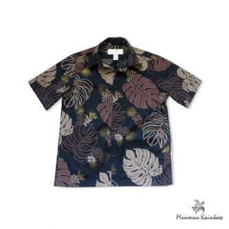AL013 Black & Brown Leaf Shirt
