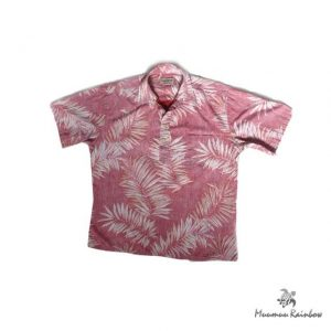 AL003 Red Palm Leef Shirt
