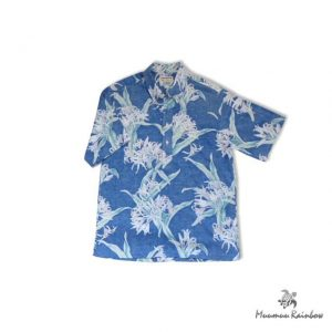 AL009 Pale Flower Blue Shirt