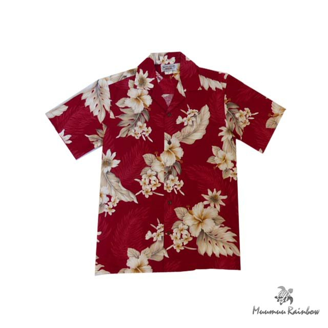 AL038R Cotton Hibiscus Shirts