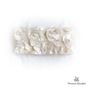 BG006 Beige Flower Clutch