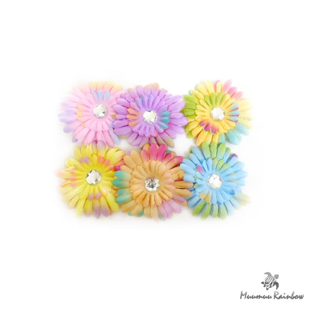 F010 Gradation Color Flower Pin