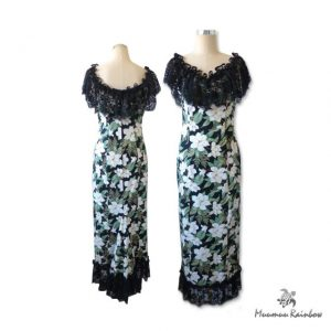 PR002 PK Black Lace Floral Dress