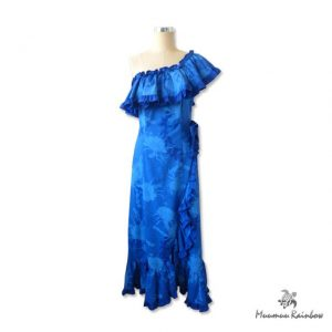 PR014 One-Shoulder Blue Dress