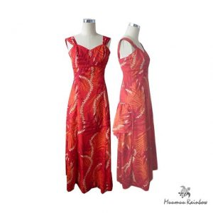 PR031 Lei and Leaves Red Dress