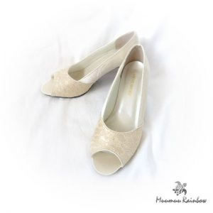 SH016 Ivory Lacy Shoes