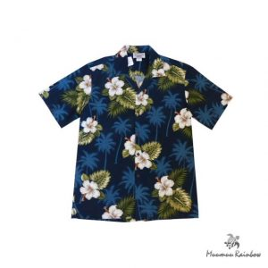 AL037B Cotton Hibiscus & Palm tree