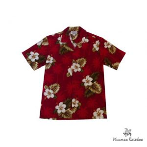 AL037R Cotton Hibiscus & Palm tree