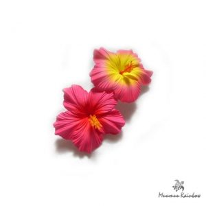 F012 Hibiscus Flower Pin