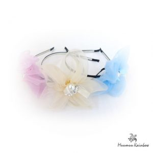 F013 Chiffon Flower with Pearl