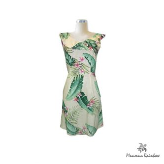 H006 Hawaiian Print Dress
