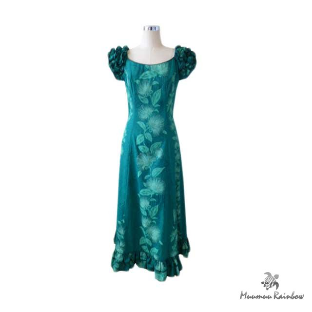 H054 Dark Green Dress