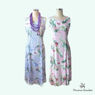 J001 Hibiscus Simple Dress