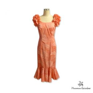 OR002-P Pink Ruffle Sleeve Dress