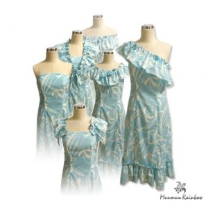 OR009 6way Pastel Blue Dress