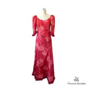 PR004 Red Scallope Neck Dress