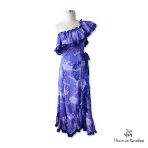 PR014-P One-Shoulder Purple Dress
