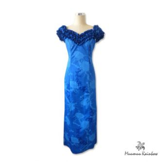 PR015 Ruffle Blue Dress