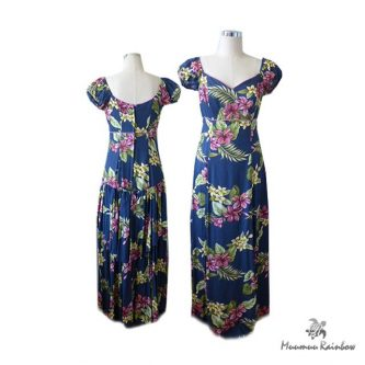 PR024 Floating Floral Tired Dress