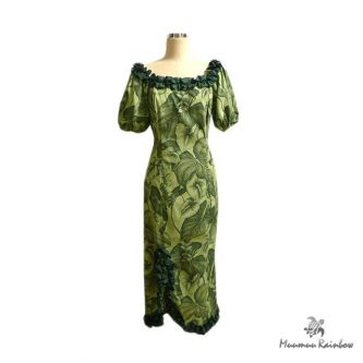 PR036 Anthurium Print Dress