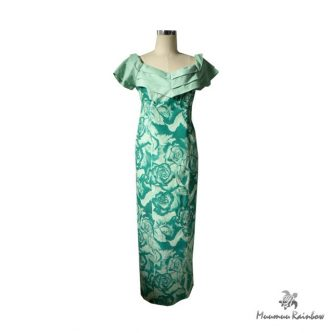 PR041 Green Rose Dress