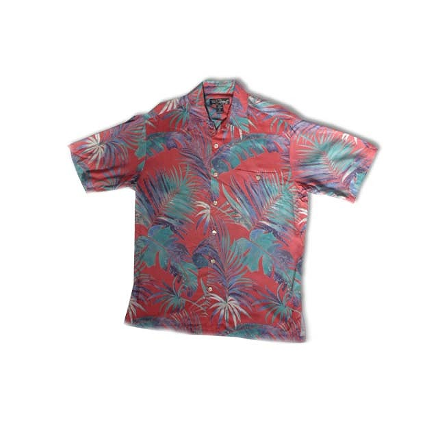 AL006 Various Leaves  Red Shirt