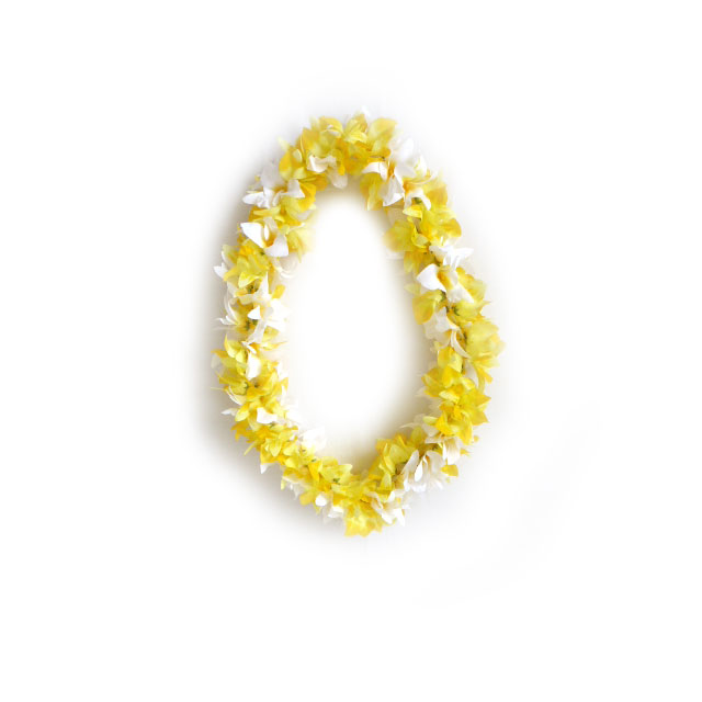F005 Yellow Flower Lei