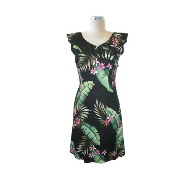 H007 Hawaiian Print Dress