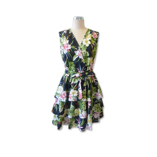 H008 Hawaiian Print Dress