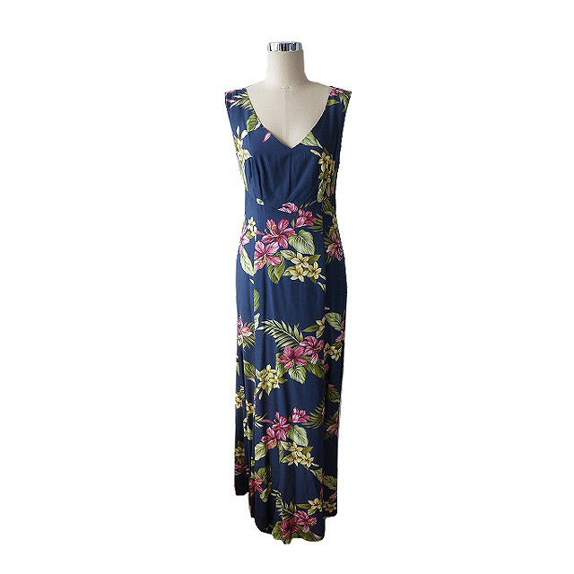 PR026 Navy FLoral Dress