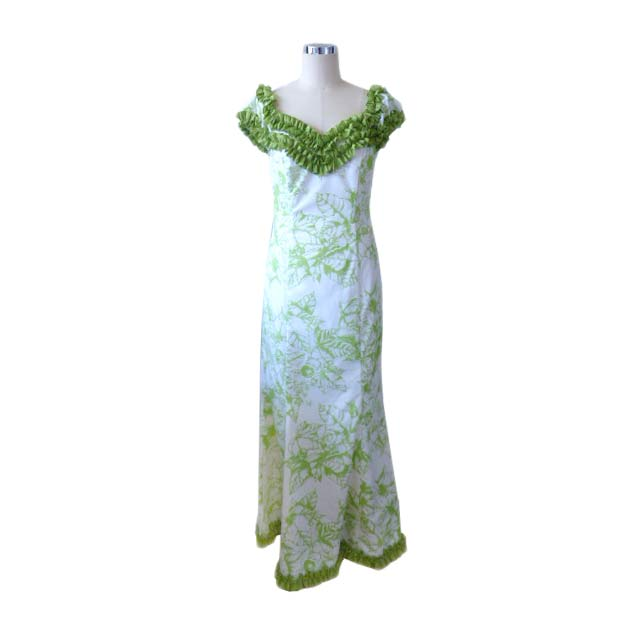 PR029 Kukui Leaf Green Dress