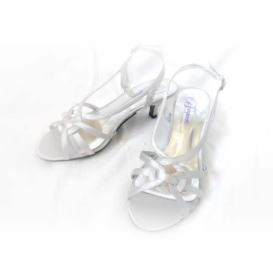 SH011 Low Heel Silver Shoes